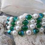 Peacocks and Pearls bracelet