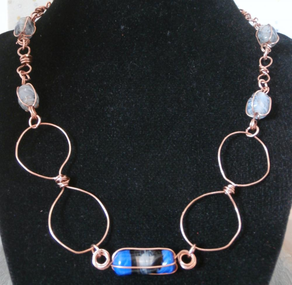 Glass and Copper Necklace